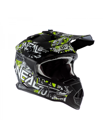 ДЕТСКА КАСКА O'NEAL 2SERIES ATTACK BLACK/NEON YELLOW 2020